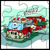 Fire   Engine Puzzle  : Fire Fighters Crafts for Children