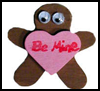 Gingerbread Heart Pin Craft for Kids