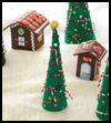 Felt    Gingerbread Houses  : Gingerbread House Crafts for Kids