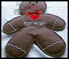 Gingerbread Man Rick Bag Stuffed Doll Craft