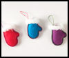 Felt    Mitten and Ice Skate Ornament   : Gloves and Mittens Crafts Ideas for Children