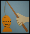 Fishing   Handprint   : Grandparents Day Gifts Crafts Ideas for Children