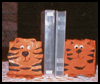 Paper   Maché Tiger Book Ends   : Grandparents Day Crafts Activities Ideas