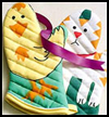 Hand-Colored   Oven Mitts   : Grandparents Day Gifts Crafts Ideas for Children