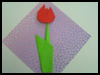 Origami Tulip   : Grandparents Day Crafts Activities Ideas