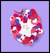 Hundreds   of Hearts Wreath  : Grandparents Day Crafts Projects Ideas