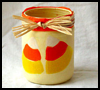 Candy   Corn Luminary  : Candy Corn Crafts Ideas  for Kids