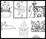 Ready2beat.com  : Free Halloween Coloring Page Printouts