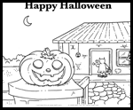 Alfy.com  : Free Halloween Coloring Page Printouts