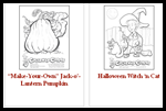 Pizzabytheslice.com    : Halloween Coloring Free Printouts