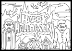 Hersheys.com  : Free Halloween Coloring Page Printouts