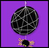 Dangling   Spider and Web  : Halloween Spider Web Crafts for Kids