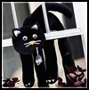 Black   Magic Cat  : Halloween Window Decorations Crafts for Kids