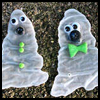 Glue   Ghost Window Decoration  : Halloween Window Decorations Crafts for Kids