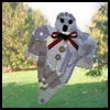 Ghost   Suncatcher  : Halloween Window Decorations Crafts for Kids