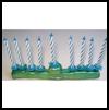 Birthday    Candle Menorah  : Chanukah Crafts for Jewish Kids