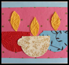 Diya   Collage Card  : Hindu Crafts for Children