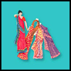 Indian   Sari Paper Dolls  : Crafts for Kids From India
