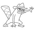 How to Draw Perry the Platypus from Phineas and Ferb