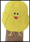 Easter Chick Bag : Making Bags Activities for Children
