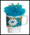 Retro   Cup Pin Cushion  : How to Make a Pincushion Craft for Kids