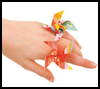 Mini   Pinwheel Charm  : How to Make Rings Craft for Children