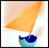 Eggshell Ships : How to Make a Toy Boat Directions for Children