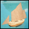Cork Sail Boat : How to Make a Toy Boat Directions for Children