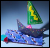 Shark   Chasing A Boat  : Shark Crafts Ideas for Kids