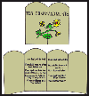 10    Commandments Giant Poster Card  : Jewish Crafts Ideas for Kids