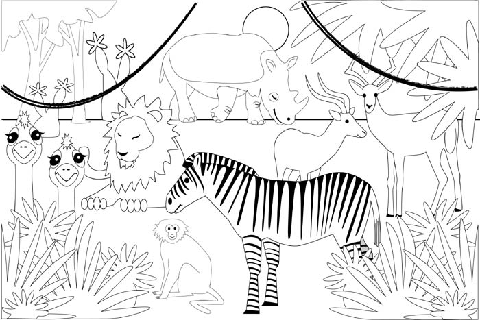 free kids safari coloring pages - photo#21