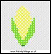 Sweet    Corn Fuse Bead Pattern  : Kwanzaa Crafts Activities for African Americans