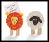 Lion and Lamb Note Holders Crafts Activity