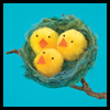 Nest o' Fluffy Chicks Easter Craft