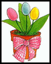 Egg Tulips Crafts Activity
