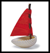 Seashell Sailboat Natural Craft Ideas