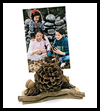 Pinecone Photo Holder Craft for Thanksgiving or Fall