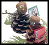 Pinecone Carolers Christmas Craft for Kids