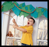 Foam Leaf Valance Crafts Project to Decorate Your Room