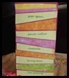 Funky Stripes Mother's Day Card Craft Idea