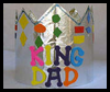 King for a Day Crown Father's Day Craft for Kids