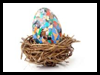 Mosaic Decoupage Easter Egg Craft