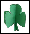3D Shamrock Paper Craft