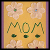 Flowers and Sequins Mother's Day Card Crafts Project