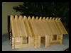 Lincoln Sticks: Popsicle Stick Log Cabins Activity