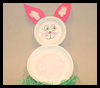Paper Plate Easter Bunny Crafts Activity