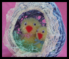String Easter Egg and Baby Chicks Craft for Kids
