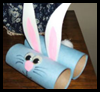 Cardboard Tube Bunny Crafts Project for Children