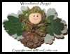 Woodland Pinecone Angel Craft for Kids