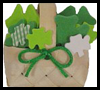 Mini Basket of Shamrocks Craft for Kids